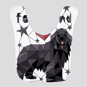 Geometric Newfoundland Polyester Baby Bib