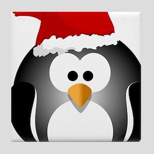 Santa Hat Penguin Tile Coaster