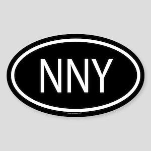 NNY Oval Sticker