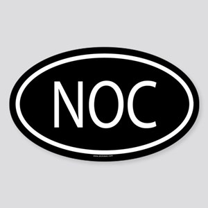 NOC Oval Sticker