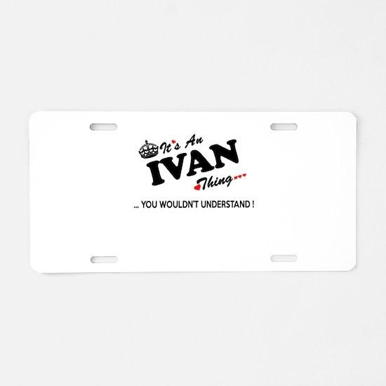 Cute Ivan Aluminum License Plate
