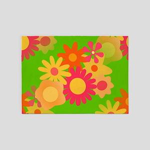 groovy mod floral 5'x7'Area Rug