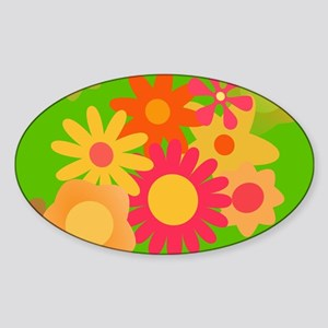 groovy mod floral Sticker