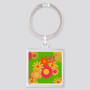 groovy mod floral Keychains