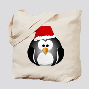 Santa Hat Penguin Tote Bag