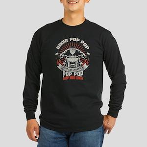 Biker Pop Pop Long Sleeve T-Shirt