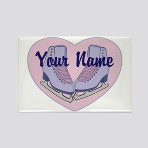 Personalized Ice Skating Heart Skates Magnets