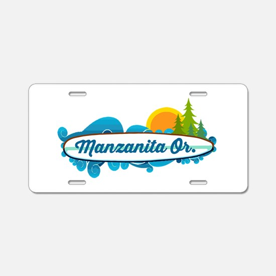Manzanita - Oregon. Aluminum License Plate
