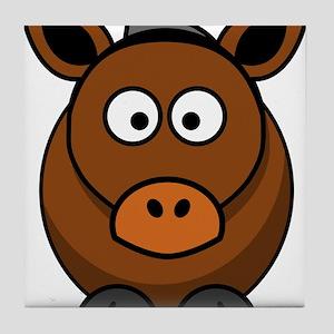 Brown Donkey Tile Coaster