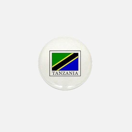 Cute Tanzanian flag Mini Button