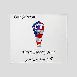 One Nation God Throw Blanket