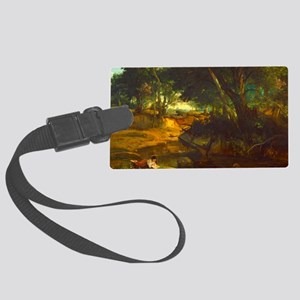 Forest of Fountainbleau by Corot Luggage Tag