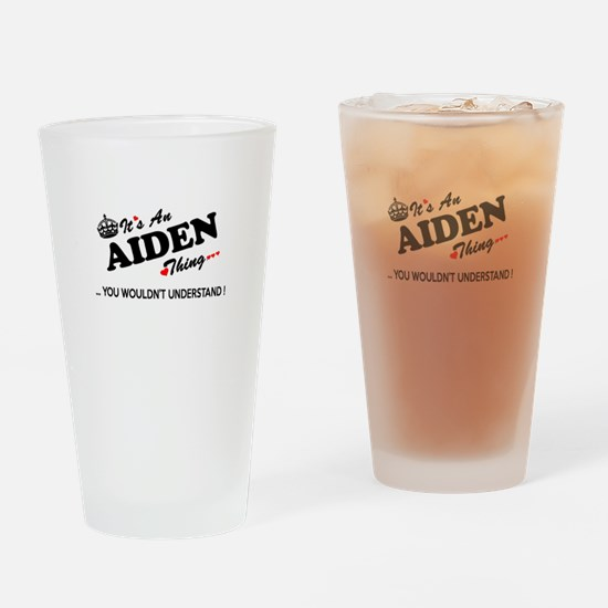 Cute Aiden Drinking Glass