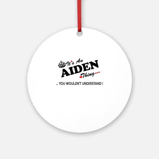 Cute Aiden Round Ornament