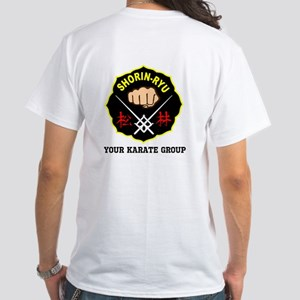 Shorin Ryu Personalized 2-Sided White T-Shirt