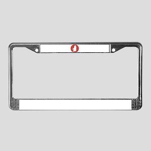 Stressed Dark Knight Female License Plate Frame