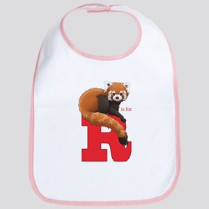 R Is For Red Panda Baby Bib
