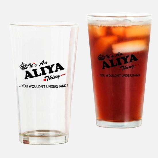 Cute Aliya Drinking Glass