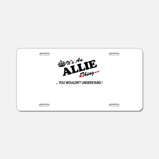 Unique Allie Aluminum License Plate