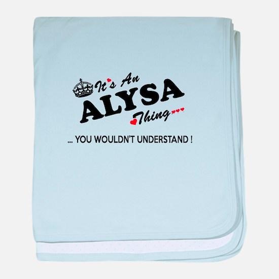 Unique Alysa baby blanket