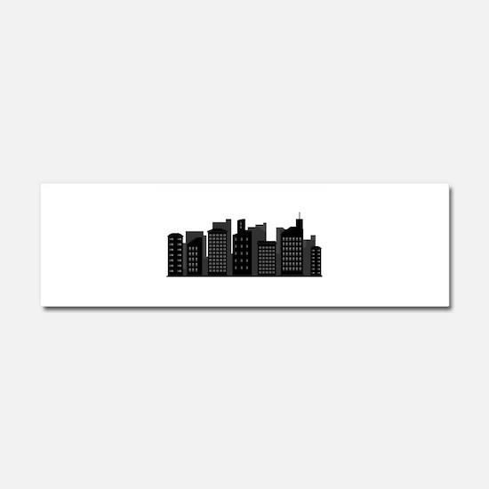 city skyline Car Magnet 10 x 3