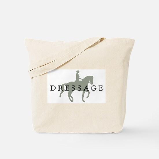 Piaffe W/ Dressage Text Tote Bag