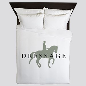 Piaffe W/ Dressage Text Queen Duvet