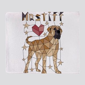 Geometric Mastiff Throw Blanket