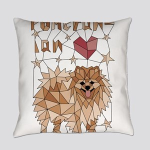Geometric Pomeranian Everyday Pillow