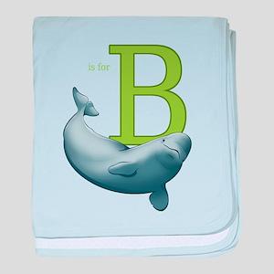 B is for Beluga baby blanket