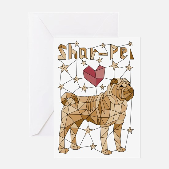 Funny Sharpei Greeting Card