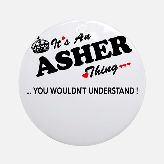 Cute Asher Round Ornament