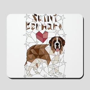 Geometric Saint Bernard Mousepad