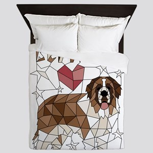 Geometric Saint Bernard Queen Duvet