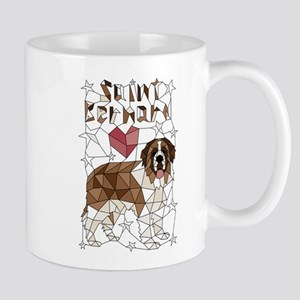 Geometric Saint Bernard Mugs