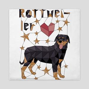 Geometric Rottweiler Queen Duvet
