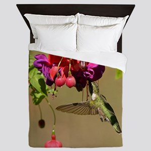 Hummer on fuchsia Queen Duvet