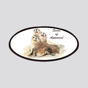 Seal of Approval Cute Watercolor Seals Patch