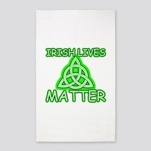 Irish lives matter Area Rug