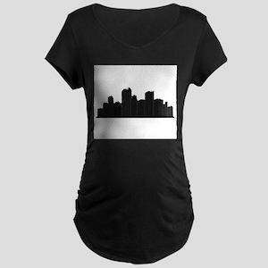 city skyline Maternity T-Shirt