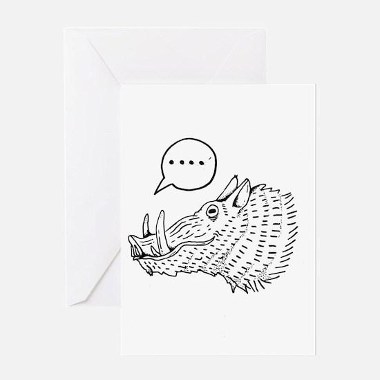 Cute Pig headed Greeting Card