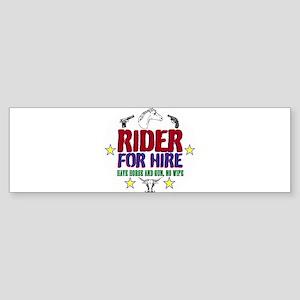Rider for Hire Bumper Sticker