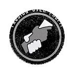 POP Logo B&W Button