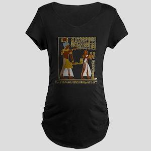 Seti I and Ramesses II Maternity T-Shirt