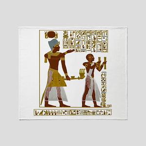 Seti I and Ramesses II Throw Blanket
