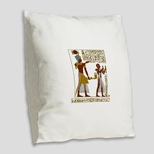 Seti I and Ramesses II Burlap Throw Pillow