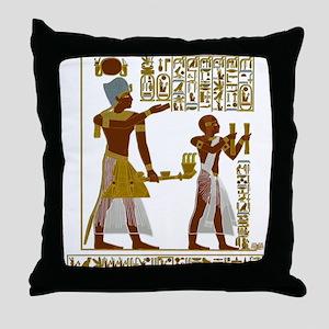 Seti I and Ramesses II Throw Pillow