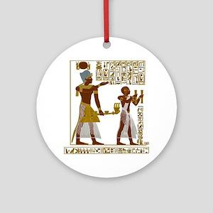 Seti I and Ramesses II Round Ornament