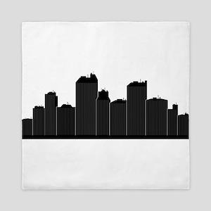 city skyline Queen Duvet