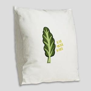 Eat More Kale Burlap Throw Pillow